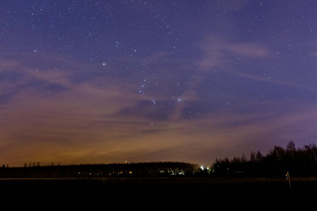 Januarsternenhimmel