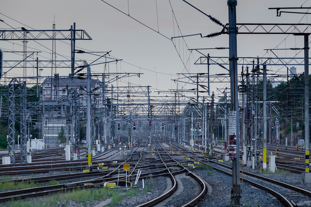 Gleisführung aus dem Bahnhof Helsinki