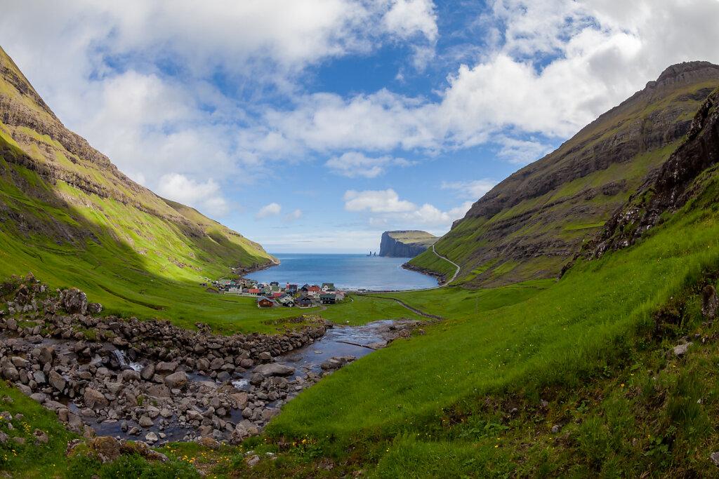 Blick auf Tjørnuvík / Färöer (View of Tjørnuvík / Faroe Islands)