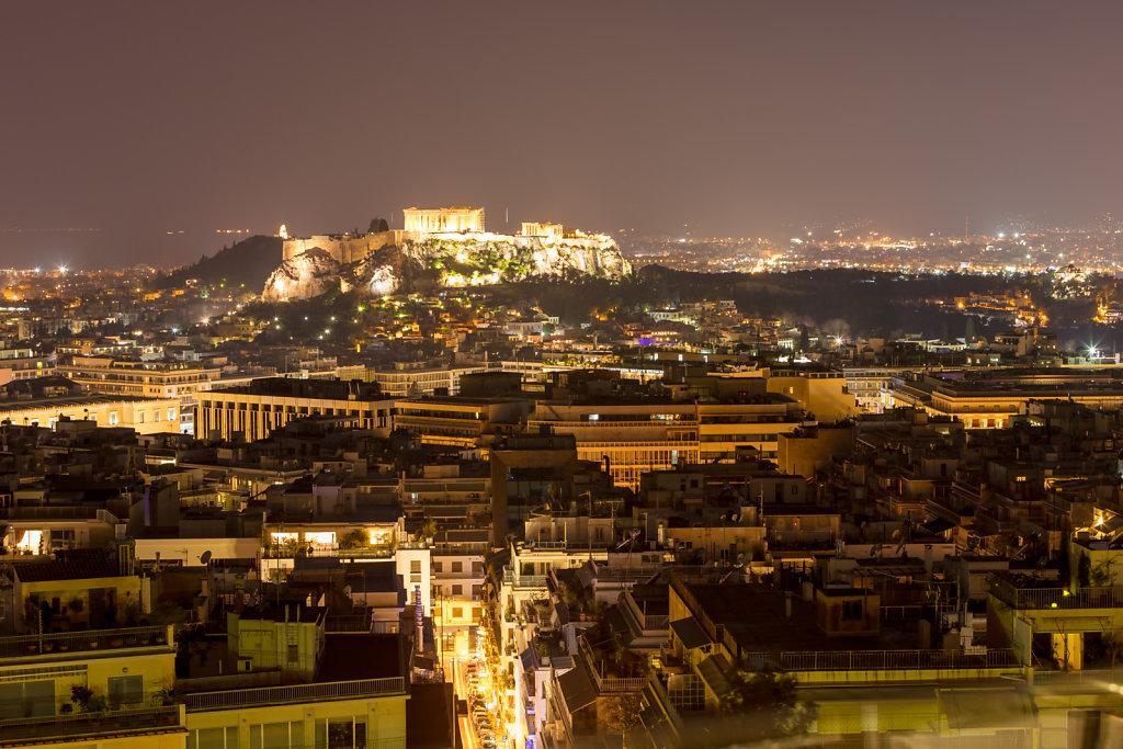 Blick zur Akropolis von Athen